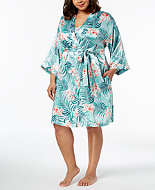 Thalia Sodi Plus Size Tropical-Print Wrap, Created for Macy's
