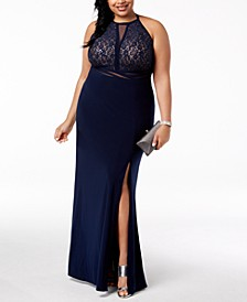 Trendy Plus Size Open-Back Gown