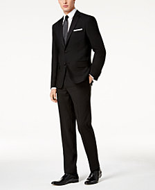 DKNY Men's Modern-Fit Black Tuxedo Suit Separates