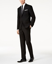 DKNY Men's Slim-Fit Black Tuxedo Suit Separates