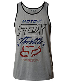 Fox Men's Throttled Tech Logo-Print Tank