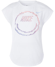 Nike Little Girls Happy Face-Print T-Shirt
