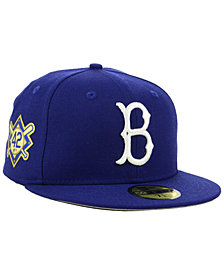 New Era Jackie Robinson Brooklyn Dodgers Patch 59FIFTY Fitted Cap