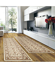 KM Home Prato Isfahan White 2-Pc. Runner Rug Set