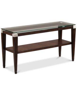 Furniture Silverado Glass Top Table Collection Furniture Macys - Silverado rectangular coffee table