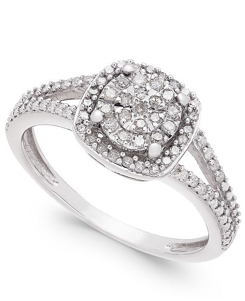 Cushion Cut Diamond Promise Ring 1