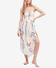 Free People Beau Smocked Printed Midi Dress