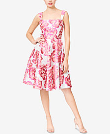 Betsey Johnson Floral Jacquard Fit & Flare Dress