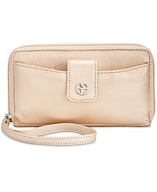 Giani Bernini Softy Leather Tech Wristlet, Created for Macy's