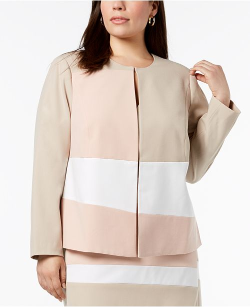 aff6ac4e8ed Plus Size Colorblocked Jacket. Be the first to Write a Review. main image   main image ...