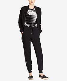 Lauren Ralph Lauren Petite Bomber Jacket & French Terry Jogger Pants