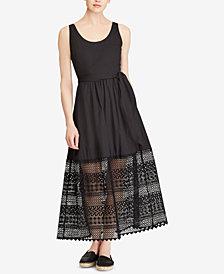 Lauren Ralph Lauren Petite Lace Poplin Dress