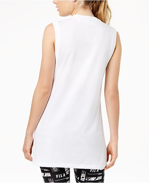 Sesto Sleeveless Fila Tank Cockatoo White w7xOq
