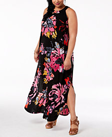 Fox & Royal Plus Size Printed Maxi Dress