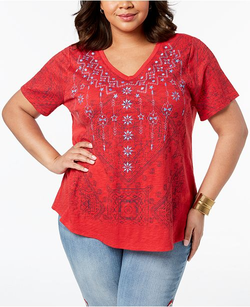Plus Size Graphic Top Created For Macy S