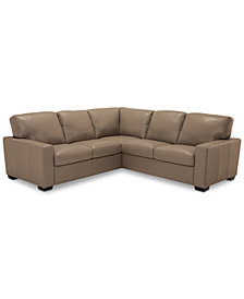 Ennia 2-Pc. Leather Sectional Sofa, Created for Macy's