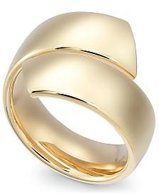 Italian Gold Bypass Ring in 14k Gold