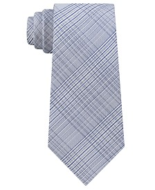 Calvin Klein Men's Hi-Ridge Plaid Slim Tie