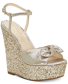 Jessica Simpson Amella Bow Wedge Sandals