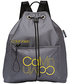 Calvin Klein Flora Drawstring Logo Backpack
