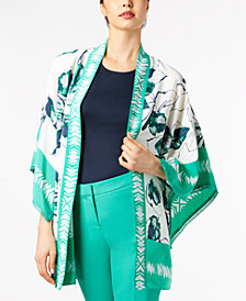 Alfani Printed Kimono, Tank Top & Ankle Pants, Created for Macy's