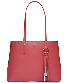 Calvin Klein Maggie Leather Tote