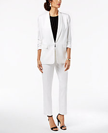 Kasper Crepe Kiss-Front Jacket & Trouser Pants