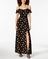 58a3710807f8 B Darlin Juniors  Off-the-Shoulder Floral Maxi Dress