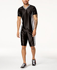 I.N.C. Men's Colorblocked T-Shirt & Shorts Separates, Created for Macy's