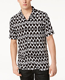 Mr. Turk x I.N.C. Men's Geometric Camp Collar Shirt, Created for Macy's
