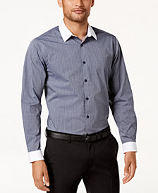 I.N.C. Men's Striped Banker Shirt Shirt, Created for Macy's