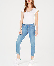 Joe's Jeans The Icon Crop Shredded-Hem Jeans
