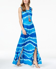 I.N.C. Petite Tie-Dye Maxi Dress, Created for Macy's
