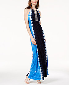 I.N.C. Embellished Maxi Dress, Created for Macy's