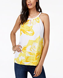 I.N.C. Sleeveless Printed Top, Created for Macy's