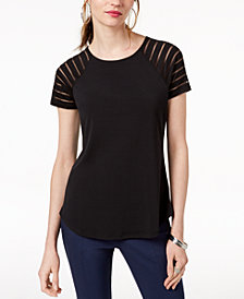 I.N.C. Illusion-Sleeve T-Shirt, Created for Macy's