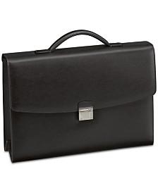 Montblanc Men's Black Sartorial Single-Gusset Leather Briefcase