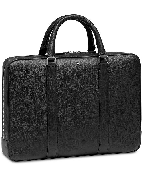 Montblanc Men's Black Meisterstück Soft Leather Small Document Case