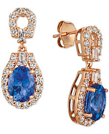 Le Vian® Strawberry & Nude™ Multi-Gemstone (2-1/4 ct. t.w.) & Diamond (7/8 ct. t.w.) Drop Earrings in 14k Rose Gold