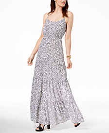 MICHAEL Michael Kors Animal-Print Maxi Dress, Regular & Petite