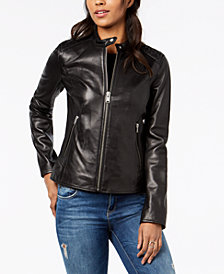 Marc New York Quilted Leather Moto Jacket