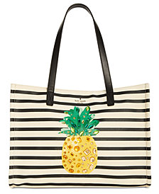 kate spade new york Canvas Pineapple Mega Sam Tote
