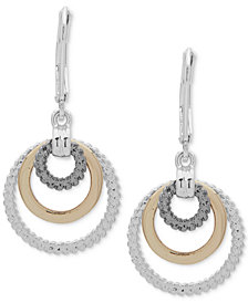 Nine West Tri-Tone Orbital Drop Earrings