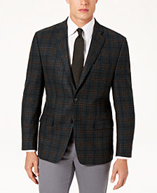 Lauren Ralph Lauren Men's Classic-Fit Ultraflex Stretch Green Plaid Sport Coat