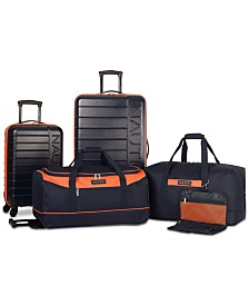 Nautica Sea Tide 5 Pc Hardside Luggage Set Created For Macys