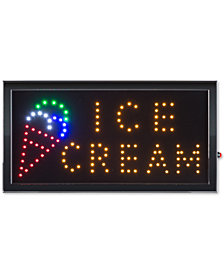 Ice Cream Lighted Neon Electric Display Sign with Animation & Energy Efficient LED
