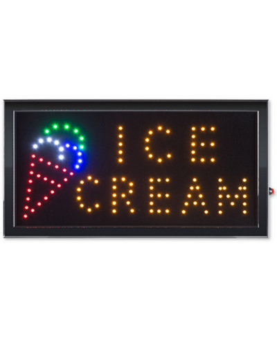 Trademark Global Ice Cream Lighted Neon Electric Display Sign with Animation & Energy Efficient LED