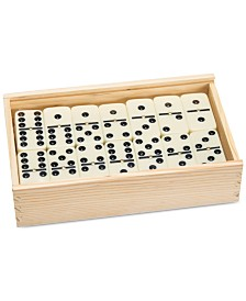"Premium Set of 55 Double Nine Dominoes with Wood Case, 2"" x 4.625"" x 7.625"""