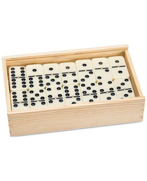 "Trademark Global Premium Set of 55 Double Nine Dominoes with Wood Case, 2"" x 4.625"" x 7.625"""