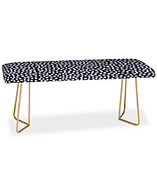 Deny Designs Rachael Taylor Urban Dot Midnight Bench